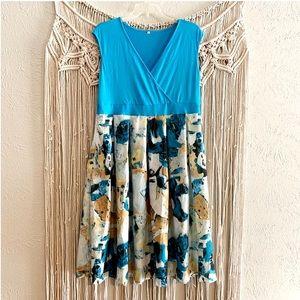 Dresses & Skirts - Fit & Flare Plus Size Surplice Neck Dress XXL